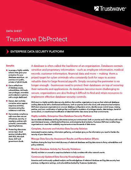 DbProtect | Trustwave