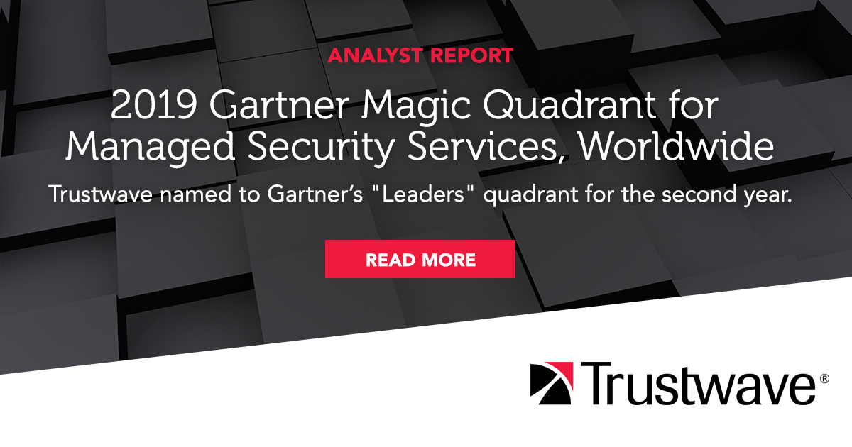 2019 Gartner Magic Quadrant for Managed Security Services