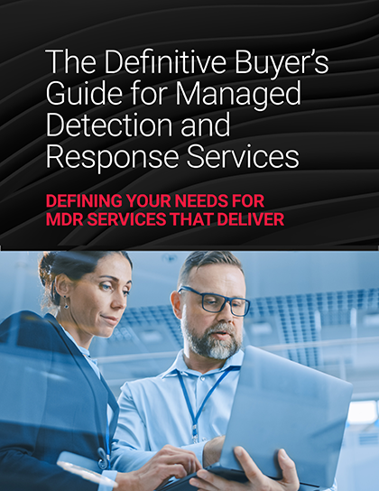 The Definitive Buyer's Guide for Managed Detection and Response Services Cover Graphic